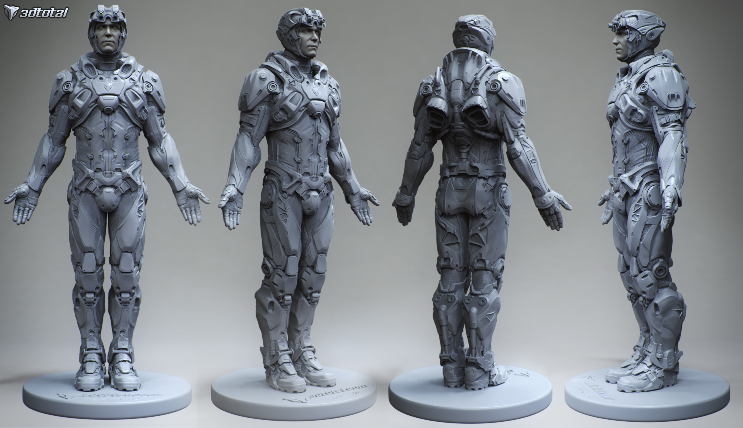 Maquette Done For 3d Total As Part Of Anatomical Reference Statue